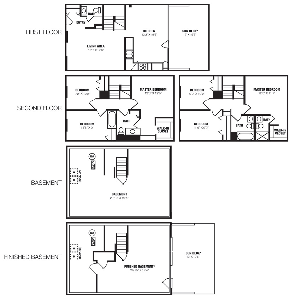Eland Downe Townhomes Floor Plan