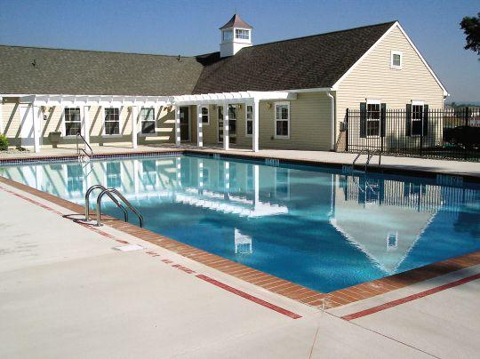 outdoor swimming pool with clubhouse