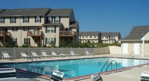 outdoor community pool area